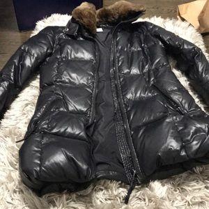 Black Sam jacket with fur
